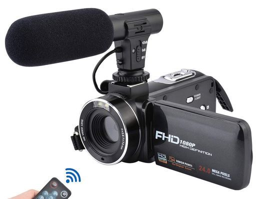 WiFi Camcorder With Wide Flip Display