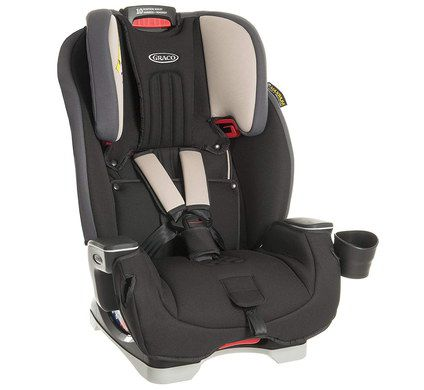 Rear Car Seat In Aluminium With Black Belts