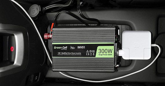 Sine Wave Car Inverter In Lime Green And Black