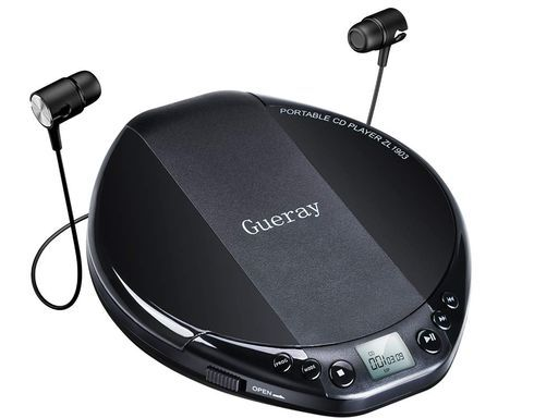 Portable CD Mp3 Player In All Black