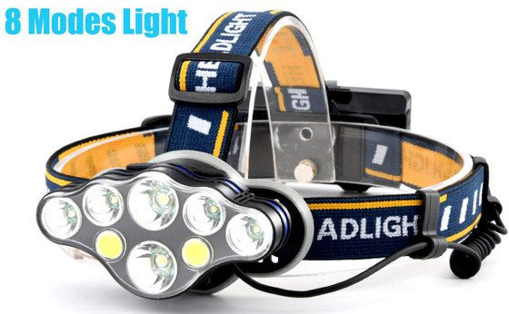 Running Head Torch With Blue Yellow Band