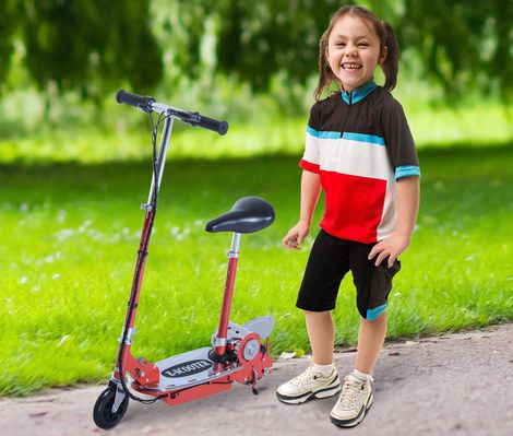 E Scooter For Kids In Black And Red