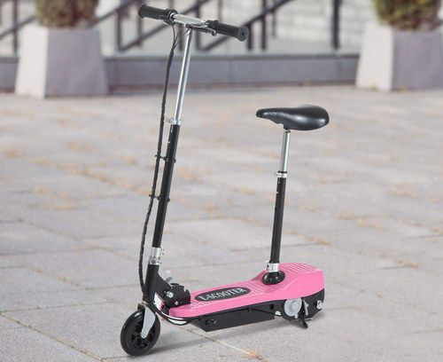 Girls Pink E-Scooter With Black Seat