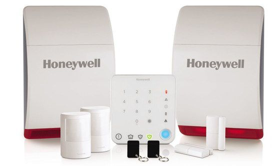 Wireless Home Alarm With Red Alert Light Base