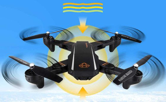 Drone With Live Camera In Black With White Stripe