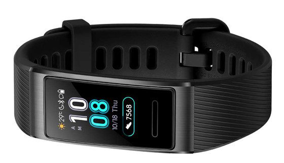 Heart-Rate Strap With Black Screen