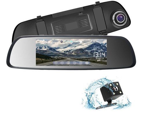 Rear View Mirror Recorder In Black