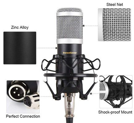 Condenser Cardioid Microphone With Steel Net