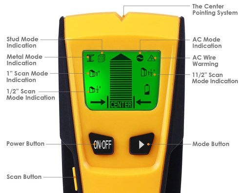 AC Live Wire Detector With Big Power Button