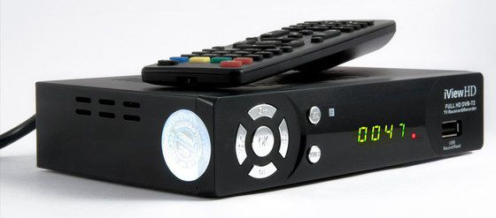UK TV Box Freeview With Black Remote