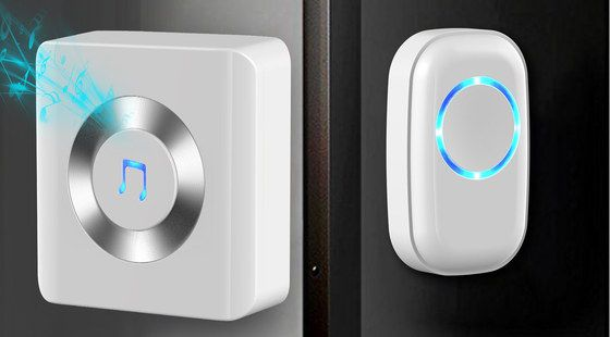 Wireless Doorbell Plug-In With Blue Light On