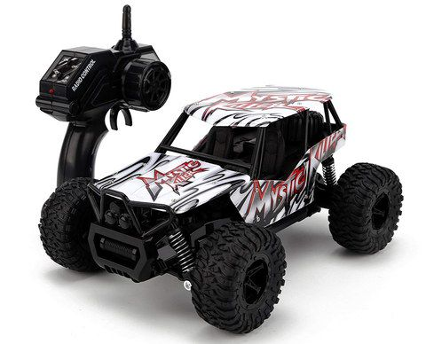 White And Black RC Car With Big Tyres