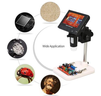 Black USB Microscope With Big Panel