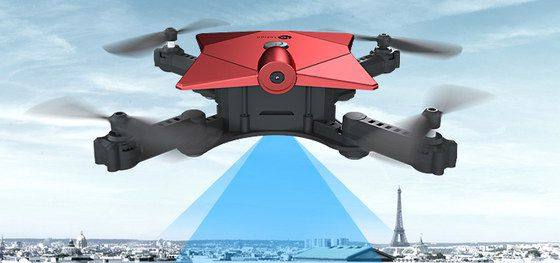 Small Drone With Camera In Red And Black