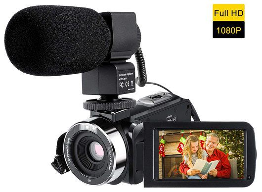 Video Recording Camera With Black Mic