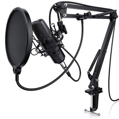 Cardioid Budget Microphone With Table Clamp