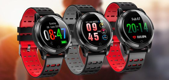 Fitness Smartwatch In Red And Black