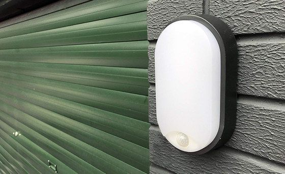 Mounted LED Bulkhead PIR Light On Garage