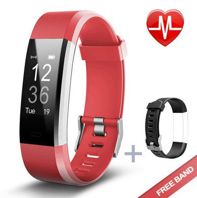 Running Heart Rate Monitor In Red