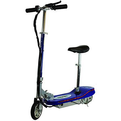 Dark Blue Kids Electric Scooter With Seat