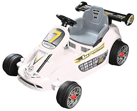 Electric Ride-On Kart In White