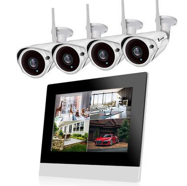 Security Camera With Black Framed Display