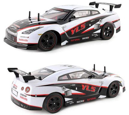 Racing Car In White And Black