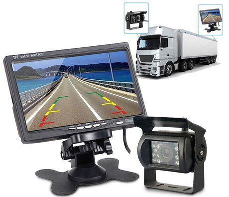 Reversing Cam For Motorhome In Black