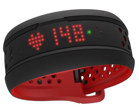 Wrist HR Monitor With Red Inner Band