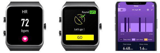 Fitness Smart Wrist Watch With Left Buttons