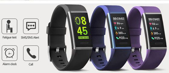 Fitness Watch With HR In Black And Blue Colours