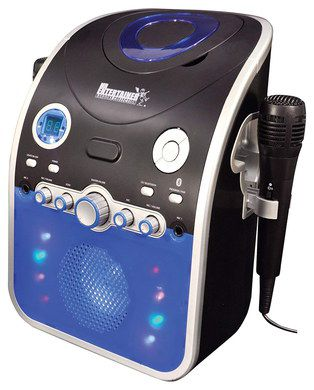 Bluetooth CDG Karaoke Machine In Blue And Black