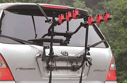 Rear Cycle Carrier On Silver Car
