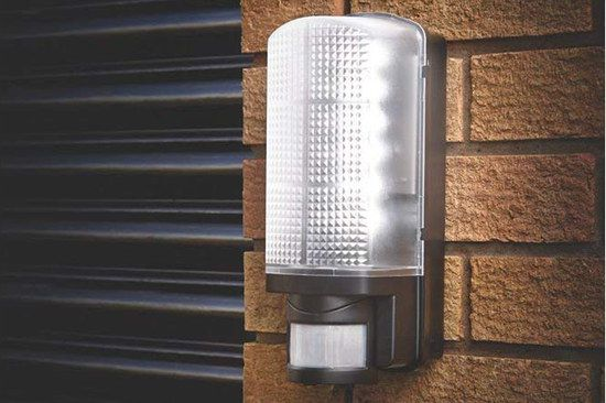 Outdoor Black Bulkhead Light In Rectangular Shape