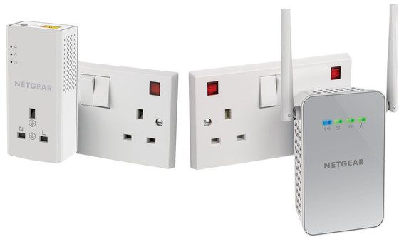 Ethernet Wall Plug Connected To Outlet