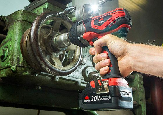 Battery Impact Wrench Working On Big Nut