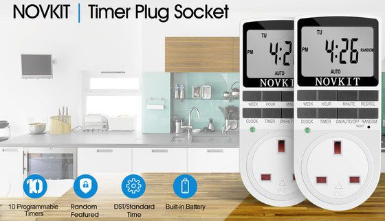 Digital Timer Plug In White And Black