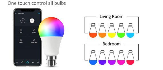 Smart Light Bulb With Black Mobile