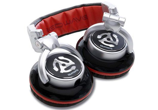 DJ Headphones With Red And Black Stripes