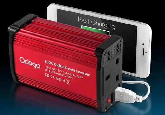 Car Electrical Inverter In Red And Black