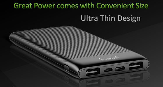 Thin USB-C Power Bank In All Black