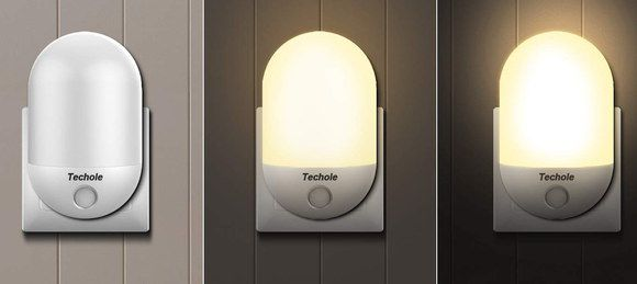 Auto Wall Night Light With 3 Colour Settings