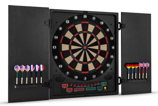 Electronic Dart Machine With Black Cabinet