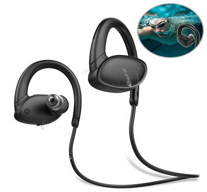 Bluetooth Wireless Headphones With Black Cable