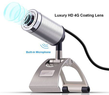 HD USB Webcam For PC With Steel Clip