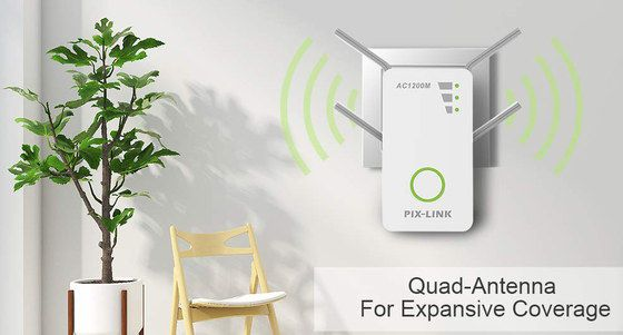 Home WiFi Booster Extender With Quad Antenna