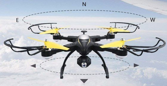 RC Quadcopter Drone With Yellow Rotors