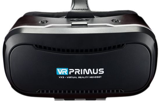 VR Headset With Smooth Black Exterior