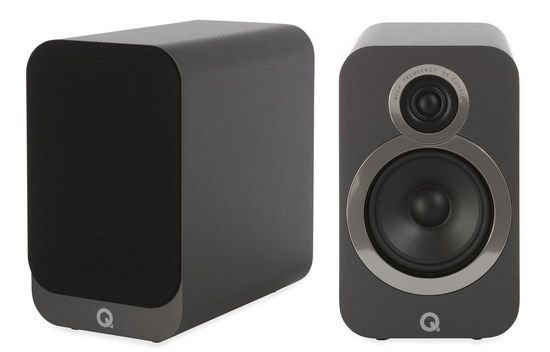 Bookshelf Speakers In Black Grey Finish