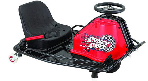 Child's Kart With Flag In Black And Red